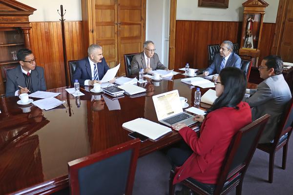 Sesión de Comisión de Administración se lleva a cabo en Palacio de Justicia del Centro Histórico