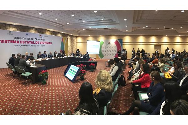El Poder Judicial de Michoacán, como parte del Sistema Estatal de Víctimas,  presente en la segunda sesión ordinaria