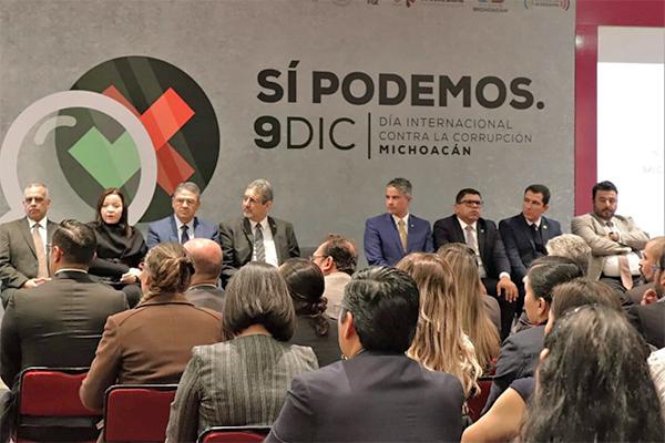 Magistrado Sergio Alberto Cázares Solórzano acude al evento conmemorativo por el Día Internacional contra la corrupción