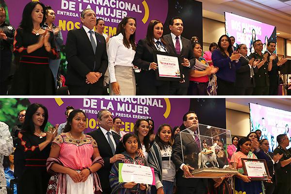 Poder Judicial de Michoacán presente en la entrega de la Presea Eréndira