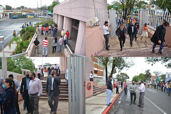 En respuesta a la alerta sísmica, personal de áreas jurisdiccionales y administrativas desaloja con éxito sedes judiciales