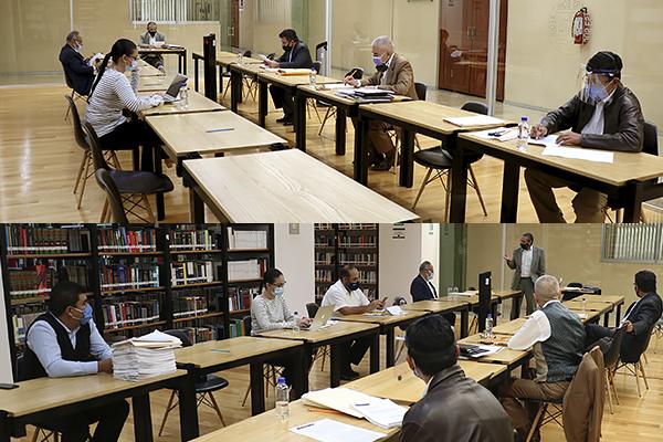 Integrantes de la Comisión de Administración y del Comité de Adquisiciones realizan sesiones ordinarias
