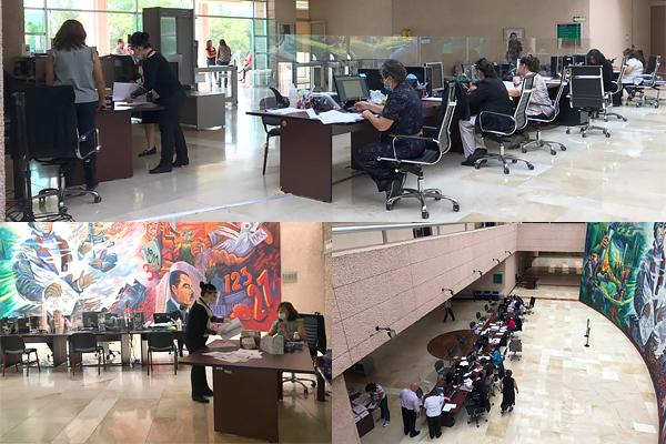 Continúa recepción de demandas y escritos introductorios de la instancia en las Oficialías de Partes y Turno