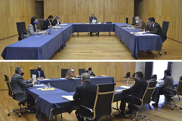Integrantes de la Comisión de Administración y del Comité de Adquisiciones realizan sesión ordinaria