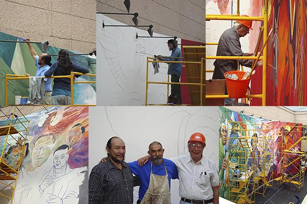 """El Mural """"Michoacán, 200 años de contribución a México"""" se realizó en 2006 e implicó cuatro meses de trabajo"""
