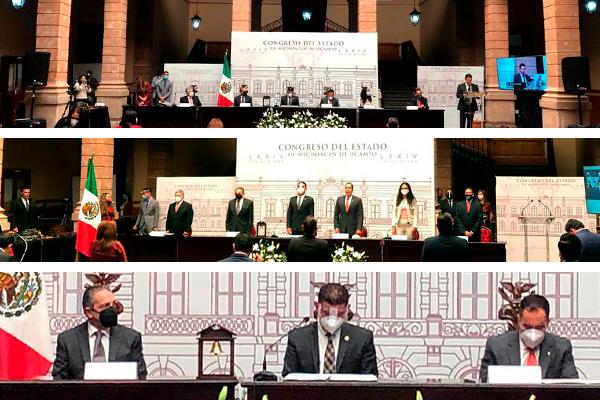 Héctor Octavio Morales Juárez, magistrado presidente del PJM, presente en la Sesión solemne virtual de apertura del tercer año legislativo