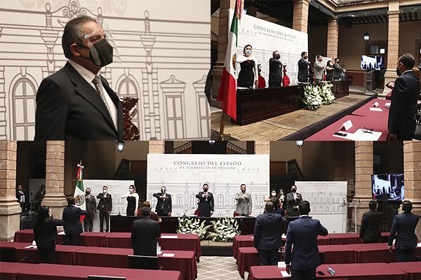 Magistrado presidente del Poder Judicial de Michoacán acude a Sesión Solemne Virtual en el Congreso local