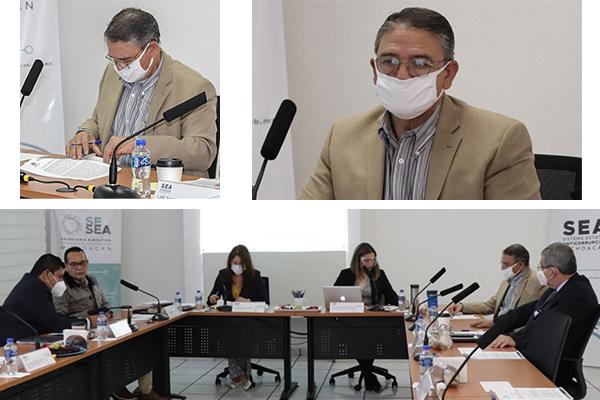 Magistrado Sergio Alberto Cázares Solórzano asiste a la Cuarta Sesión Ordinaria del Comité Coordinador y Órgano de Gobierno del SEA