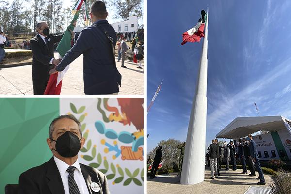 Magistrado presidente Héctor Octavio Morales Juárez asiste a ceremonia cívica conmemorativa del Día de la Bandera Nacional