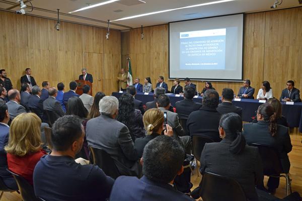 Tribunales de la entidad signan convenio para aplicar la perspectiva de género en la impartición y administración de justicia