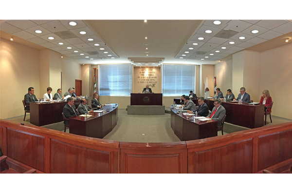 Salón de plenos, sede de la sesión ordinaria de pleno del STJE