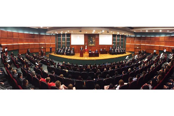 El magistrado presidente rinde el informe de actividades 2018; su administración se rigió por las directrices de justicia, transparencia y austeridad