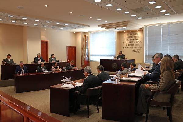 En el Salón de plenos se llevó a cabo sesión ordinaria del Supremo Tribunal de Justicia del Estado