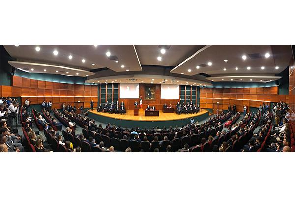 El magistrado presidente rindió informe de actividades 2019, del estado que guardan la impartición y administración de justicia en Michoacán