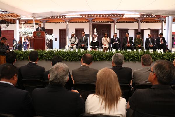 El magistrado presidente del Poder Judicial de Michoacán indicó que juezas y jueces imparten justicia basados en la imagen del Tribunal de Ario