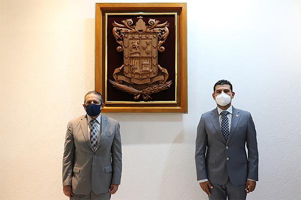 Para estrechar relación entre ambos Poderes, el recién nombrado titular del Congreso visitó las instalaciones del PJM