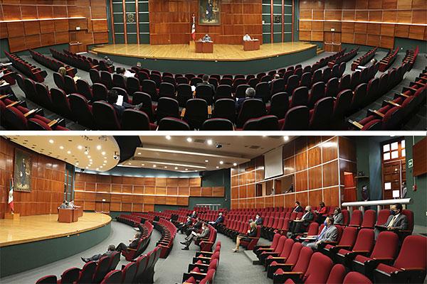 Magistradas y magistrados aprobaron dos proyectos en el auditorio del Palacio de Justicia José María Morelos